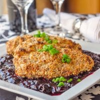 Almond Chicken with Sweet and Sour Cherry Sauce