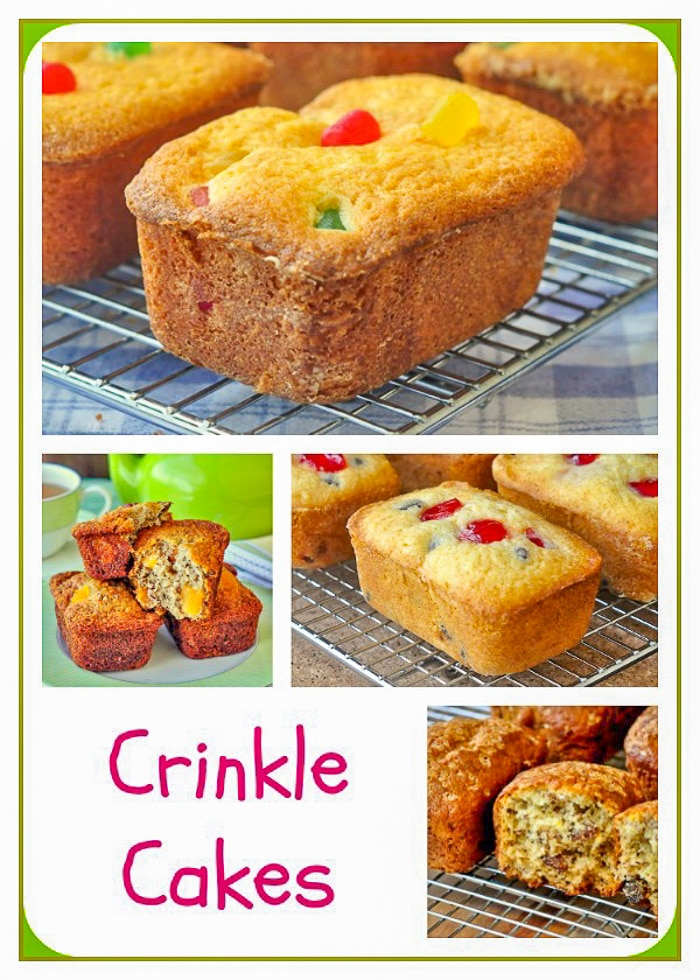 Crinkle Cakes Collage showing the 4 different varieties.