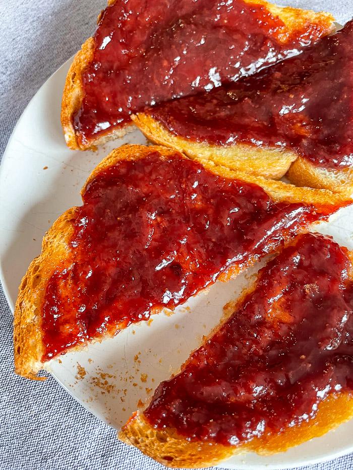 Roasted Strawberry jam on toast