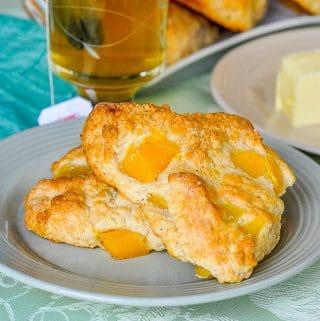 Mango Cream Cheese Scones