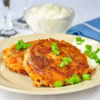 Bacon Cheddar and Onion Potato Cakes