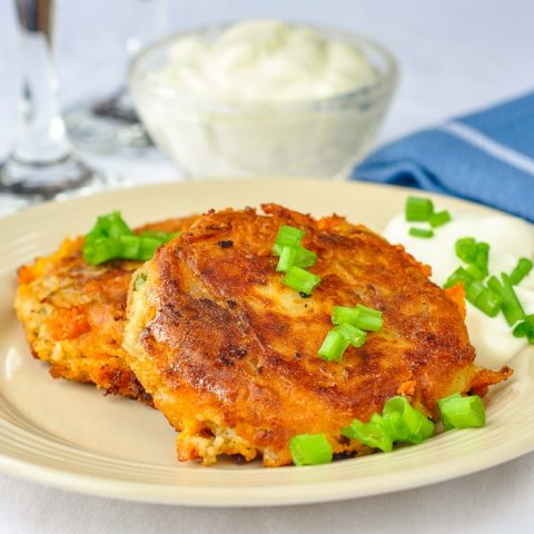 Bacon Cheddar and Onion Potato Cakes