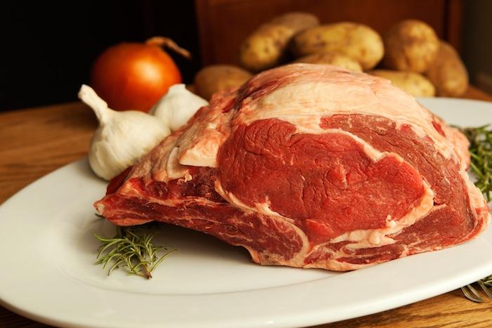 uncooked Prime Rib roast