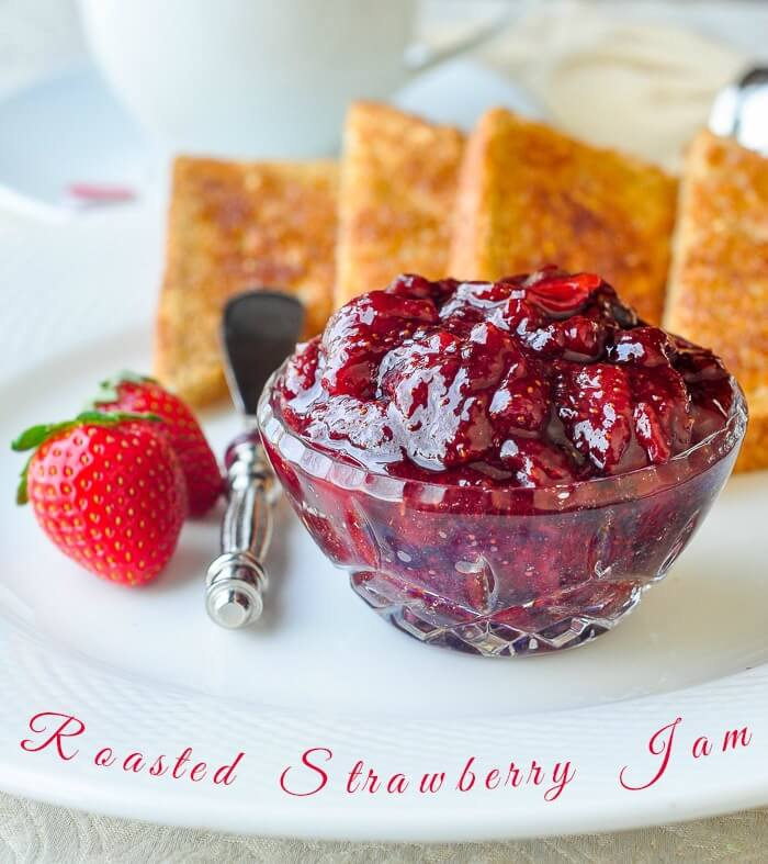 Roasted Strawberry Jam image with text
