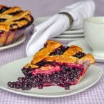 The Best Blueberry Pie photo of single slice on a white plate