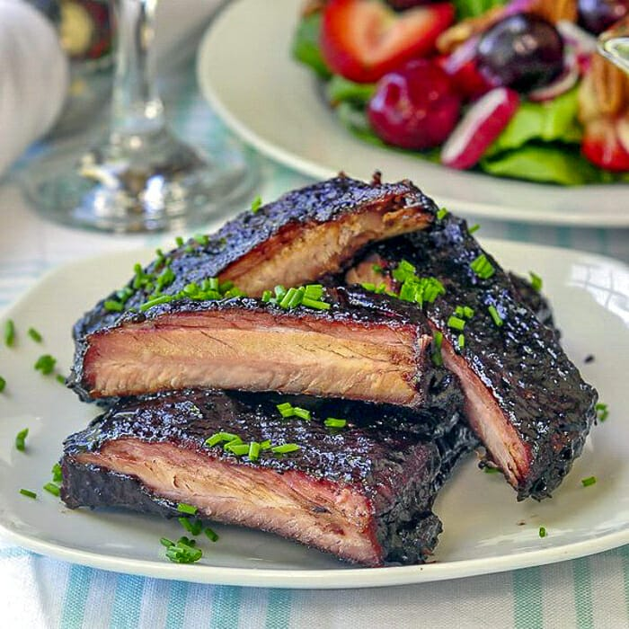 Blueberry Barbecue Sauce on slow cooked ribs