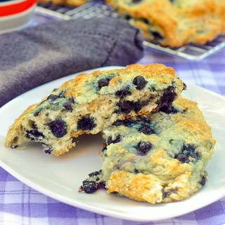 Blueberry Buttermilk Scones with Honey Butter