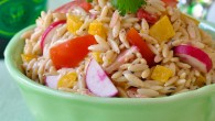 Orzo Salad with Low Fat Chipotle Ranch Dressing