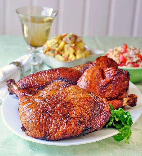 Simple Brined Smoked Turkey