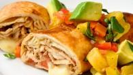 Pork Chimichangas with Avocado Pineapple Salsa