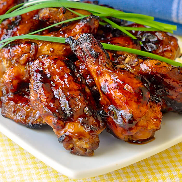 Grilled Honey Barbecue Wings Sweet Sticky Smoky Addictive