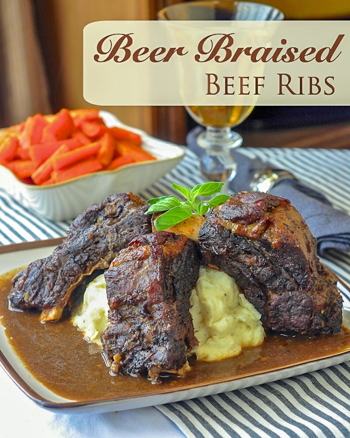St. John's Stout Braised Beef Ribs photo with title text for Pinterest