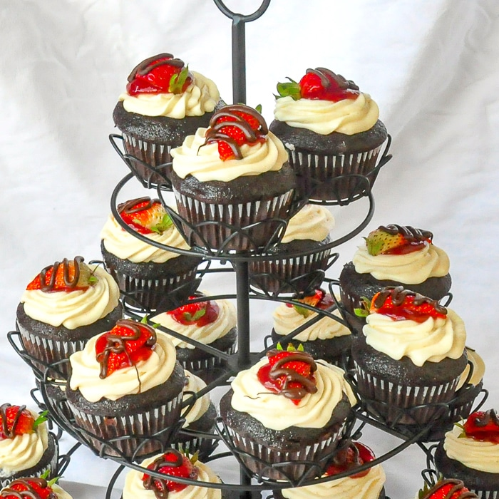 Strawberry Black Forest Cupcakes 4