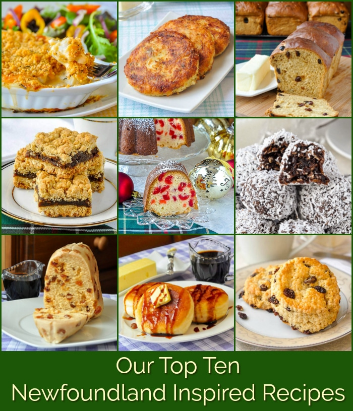 Top Ten Newfoundland Recipes photo collage for Pinterest