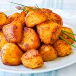 Barbecue Spice Roasted Potato Nuggets, close up image.