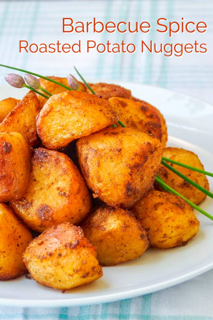 Barbecue Spice Roasted Potato Nuggets image with title text