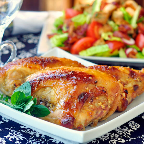 Glazed Honey Dijon Chicken Breasts
