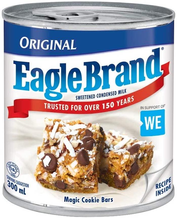 Eagle Brand Sweetened Condensed milk label stock photo