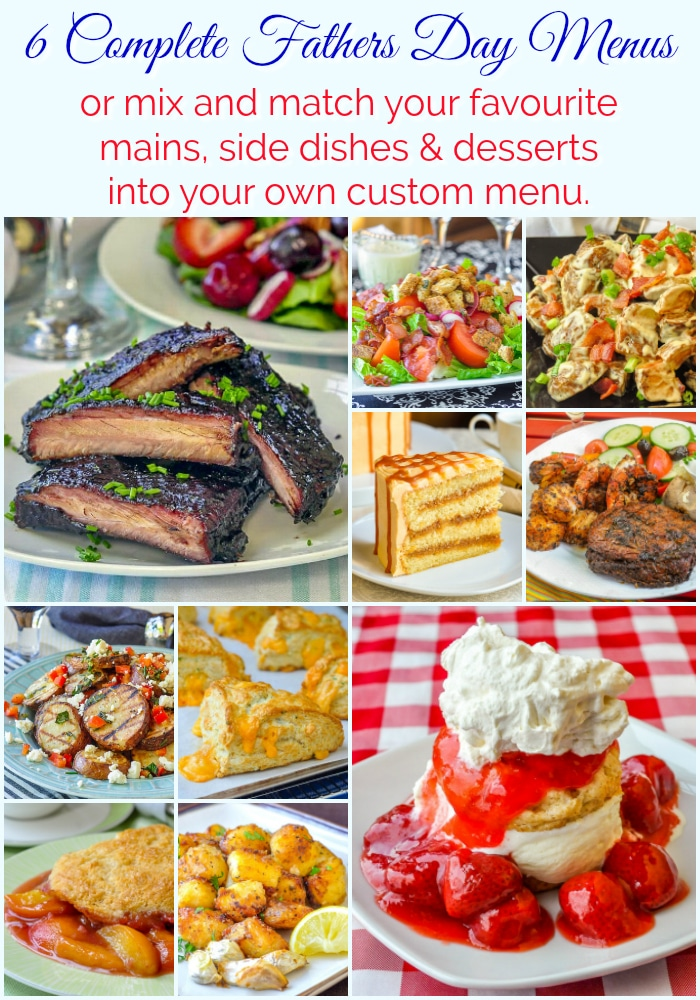 Fathers Day Menus photo collage for Pinterest