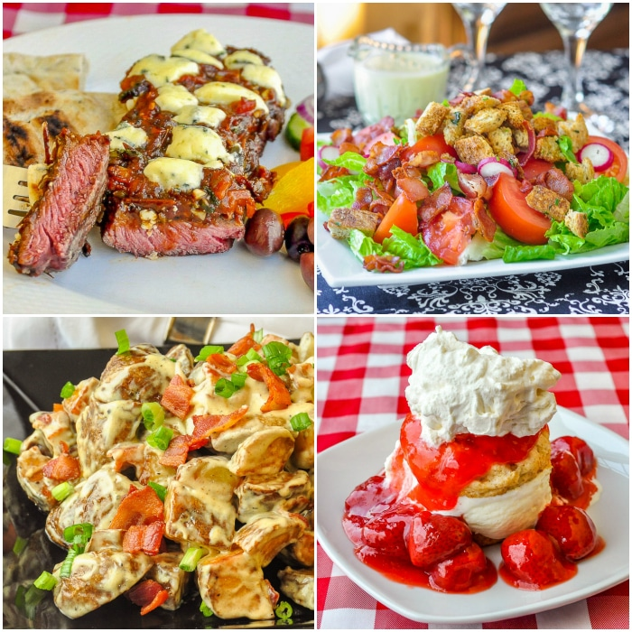 Fathers Day menu collage 1