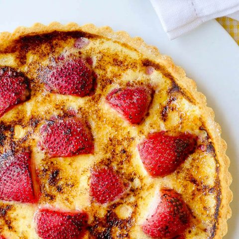Creme Brulee Tart with Strawberries