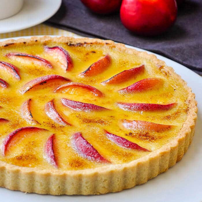Creme Brulee Tart with Nectarines