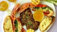 Herb Grilled Lobster Surf n Turf with Lemon Garlic Brown Butter