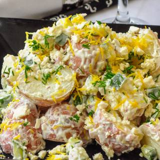 Lemon Tzatziki Potato Salad
