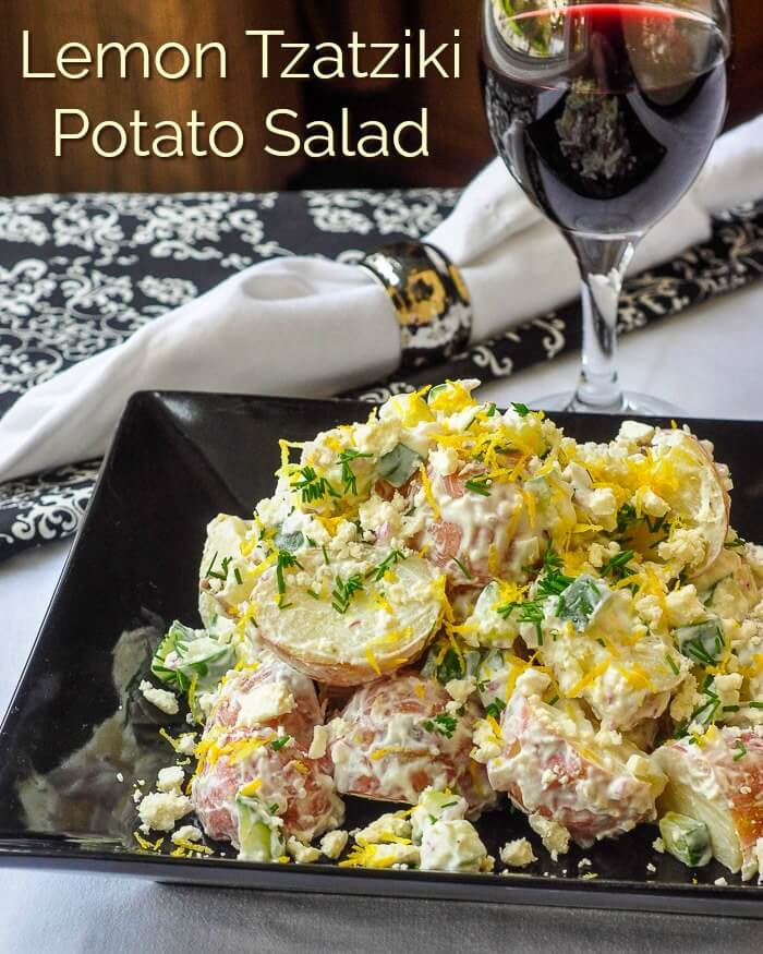 Lemon Tzatziki Potato Salad