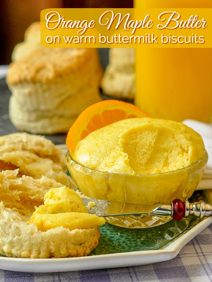 Maple Orange Butter photo with title text added for Pinterest