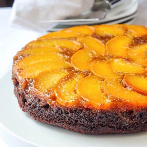 Peach Gingerbread Upside Down Cake