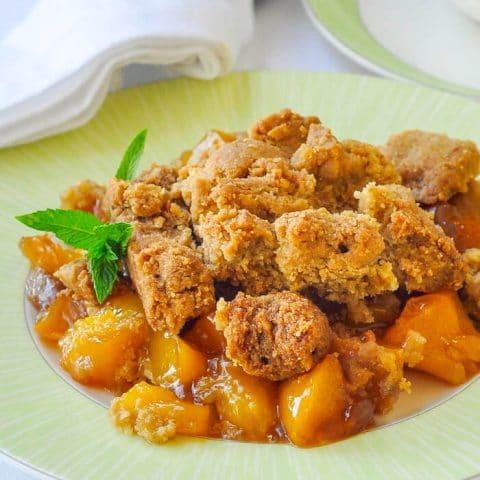 Mango Peach Coconut Crumble