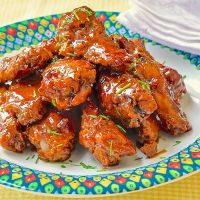 Crispy Baked Maple Sriracha Wings