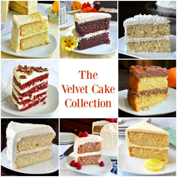 The Velvet Cake Collection from red velvet to lemon or white velvet plus other great versions of this fantastic recipe.