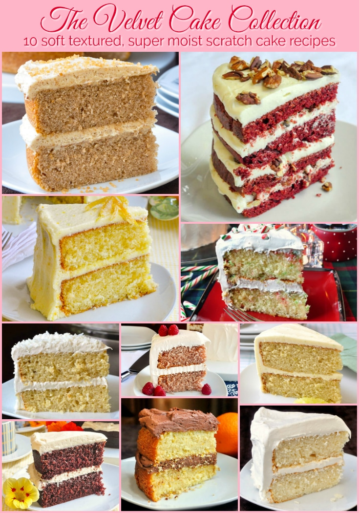 The Velvet Cake Collection 10 photo collage with title text for Pinterest