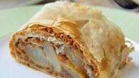 Pear Almond Baklava Roll