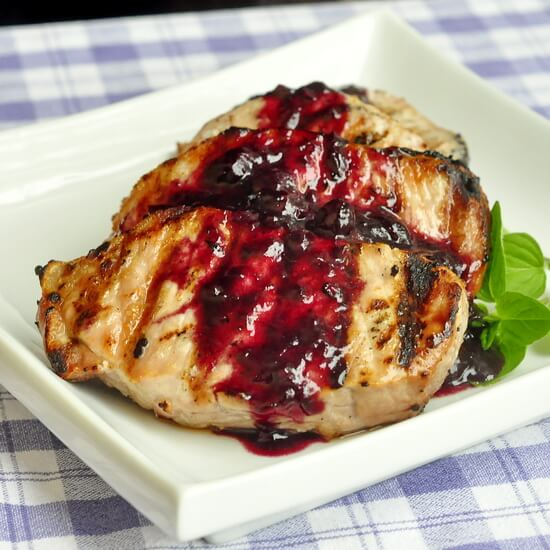 VIDEO RECIPE: Blueberry Balsamic Pork Chops