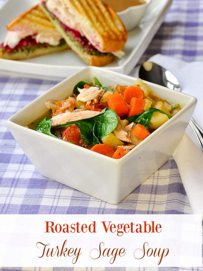 Roasted Vegetable Turkey Sage Soup
