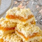 Apricot Coconut Crumble Bars close up image