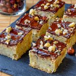 Chewy Hazelnut Bars close up image