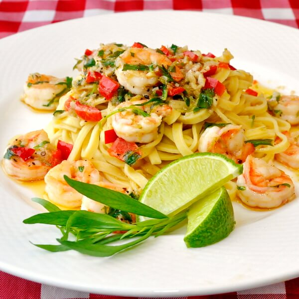 VIDEO RECIPE: Tarragon Lime Shrimp Scampi