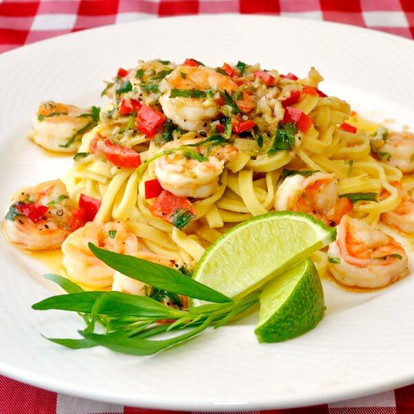 VIDEO RECIPE: Tarragon Lime Shrimp Scampi