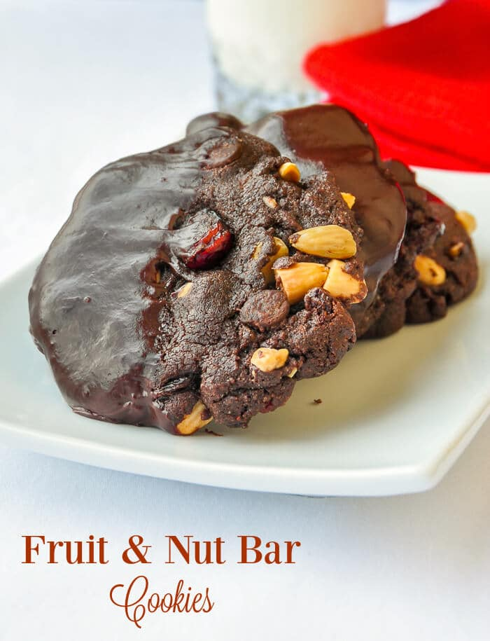 Fruit & Nut Bar Cookies - inspired by a favourite candy bar with dried fruits and nuts..