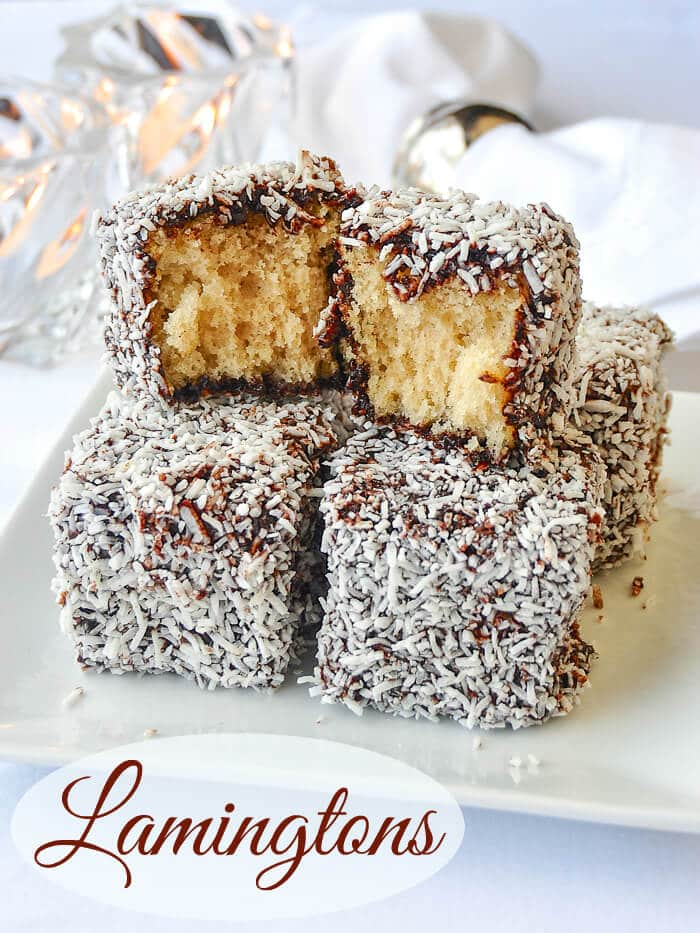 Lamingtons A K A Chocolate Coconut Cake Squares