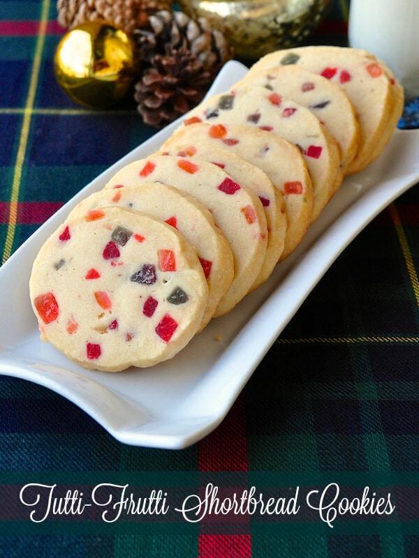 Tutti Frutti Shortbread Cookies