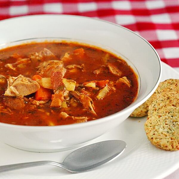VIDEO RECIPE: Turkey Bacon and Tomato Soup