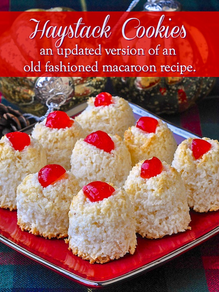 Haystack Cookies image with title text for Pinterest