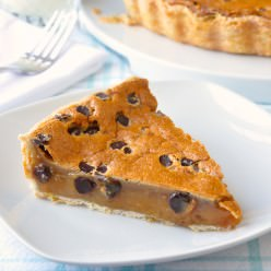 Chocolate Chip Butter Tart Pie