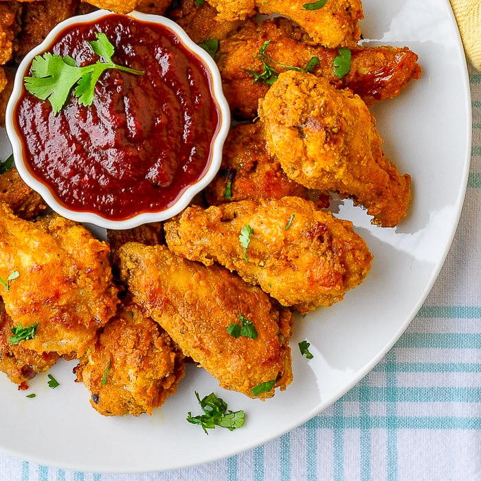 Oven Fried Chicken Wings With Honey Molasses Barbecue Sauce