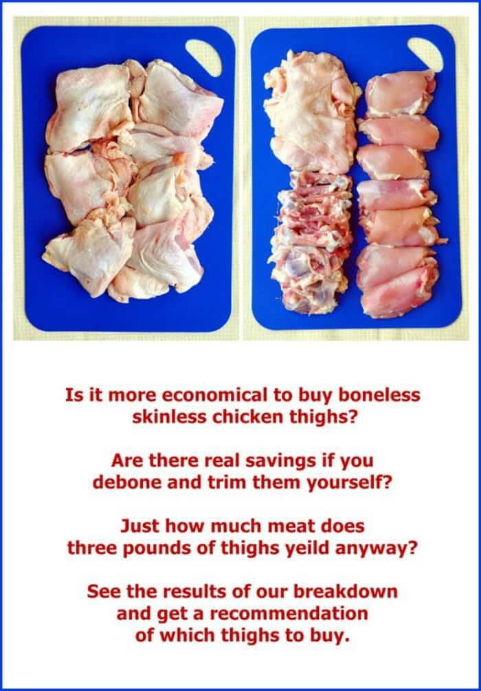 Deboning Chicken Thighs. Cheaper to do it yourself? The results ...